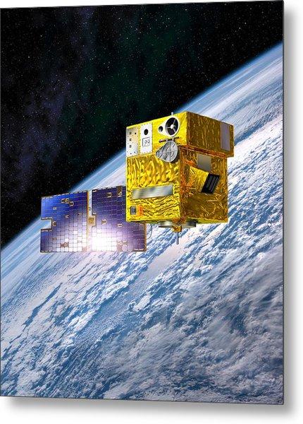 Picard Satellite, Artwork Metal Print by David Ducros