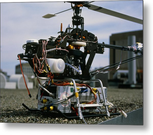 Robotic Helicopter Metal Print by Volker Steger