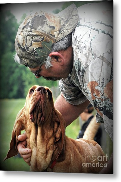 Search And Rescue Dog Metal Print by Lila Fisher-Wenzel