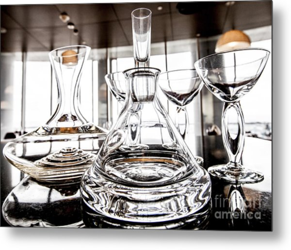 Shadow Of Luxury Glass Metal Print by Chavalit Kamolthamanon