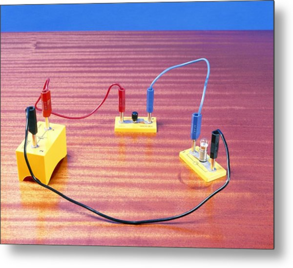 Simple Electrical Circuit Metal Print by Andrew Lambert Photography