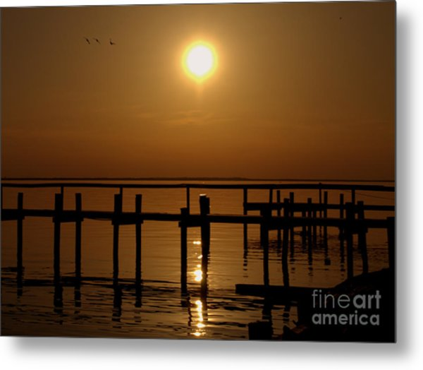 Sunset At Cobb Island Metal Print