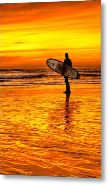 Surfing Sensations Metal Print by Donna Pagakis