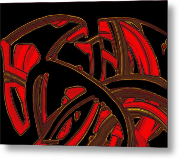 Metal Print featuring the digital art The Knot by Mihaela Stancu