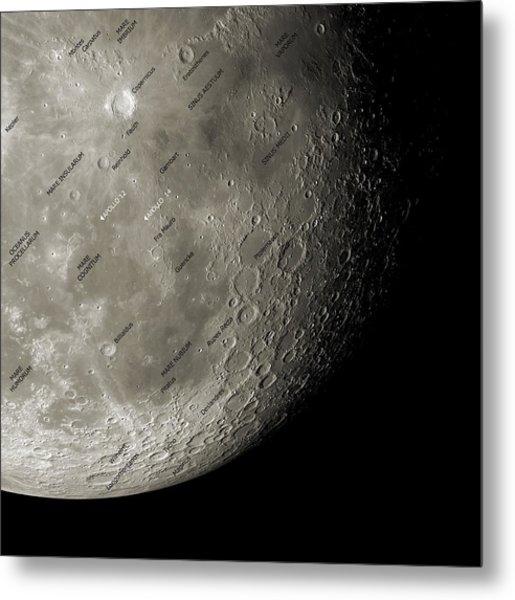 The Moon From Space, Artwork Metal Print by Detlev Van Ravenswaay