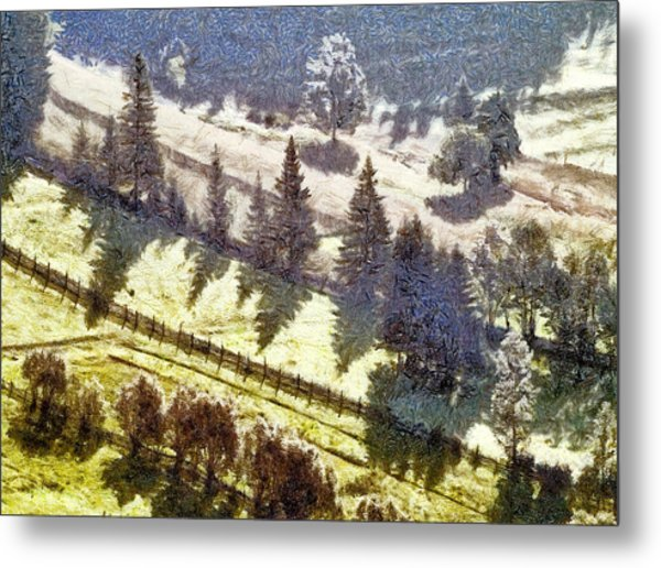 Transylvania Landscape Metal Print by Odon Czintos