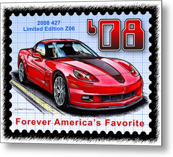 2008 427 Limited Edition Z06 Metal Print