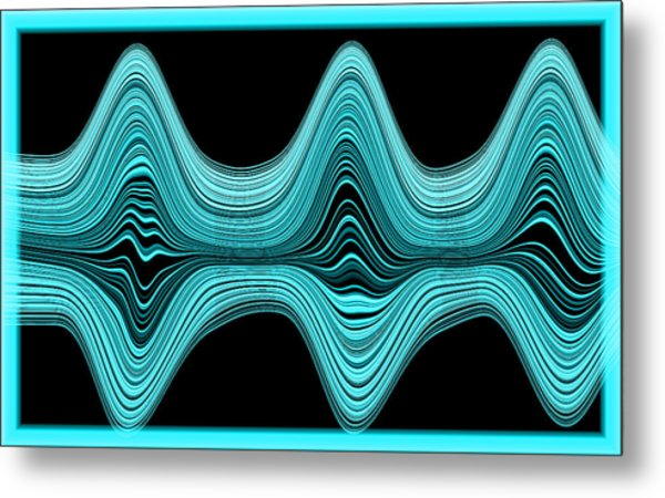 Metal Print featuring the digital art The Wave by Mihaela Stancu