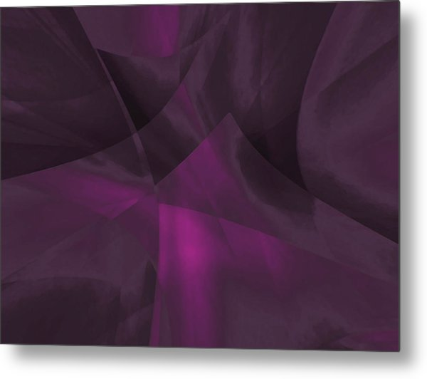 Metal Print featuring the digital art Transparent Layers by Mihaela Stancu