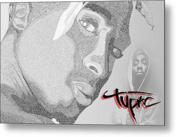 2pac Text Picture Metal Print by Aaron Parrill