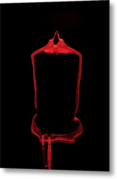 Blood Bag Metal Print by Tek Image