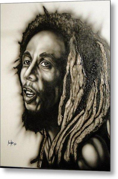 Bob Marley  Metal Print by Stephen Sookoo