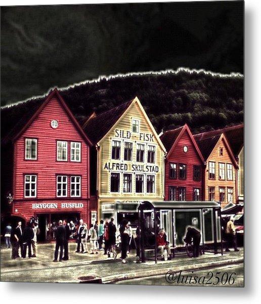 Bryggen Metal Print