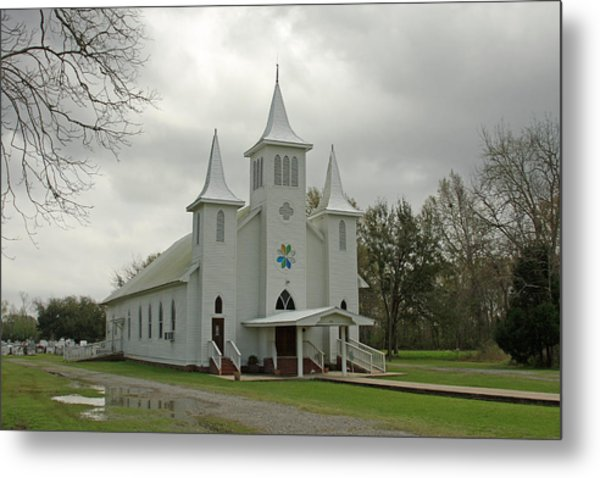 Church Metal Print by Ronald Olivier
