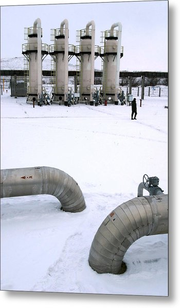 Gas Fuel Compressor Plant Metal Print by Ria Novosti