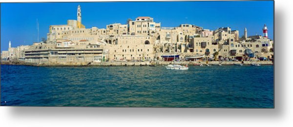 Jaffa Harbour Panorama Metal Print by Daniel Blatt