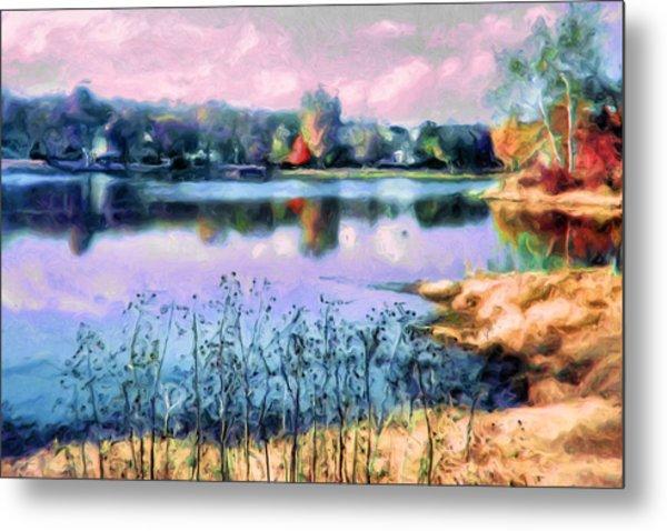 Longview Lake Metal Print by Laurie Douglas