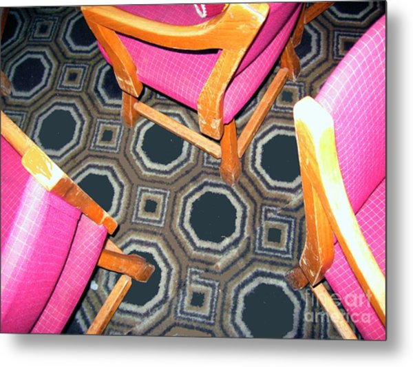 3 Pink Chairs                  Metal Print