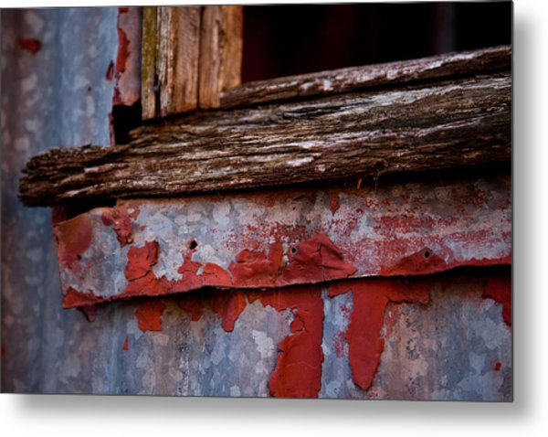 Red Shed Series Metal Print
