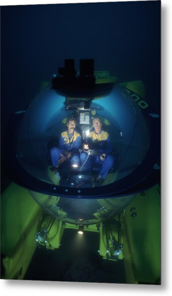 Research Submarine Metal Print by Alexis Rosenfeld