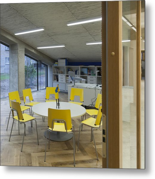 The Dining Area Of The New Buildings Metal Print by Jaak Nilson