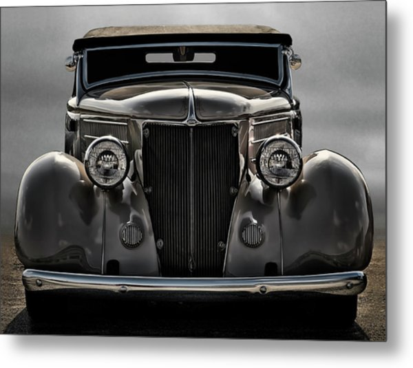 '36 Ford Convertible Coupe Metal Print