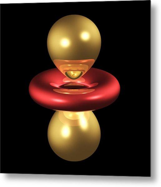 3dz2 Electron Orbital Metal Print by Dr Mark J. Winter