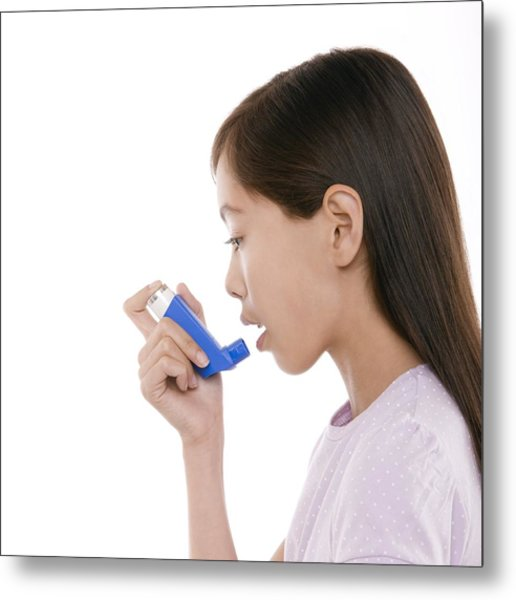 Asthma Treatment Metal Print by