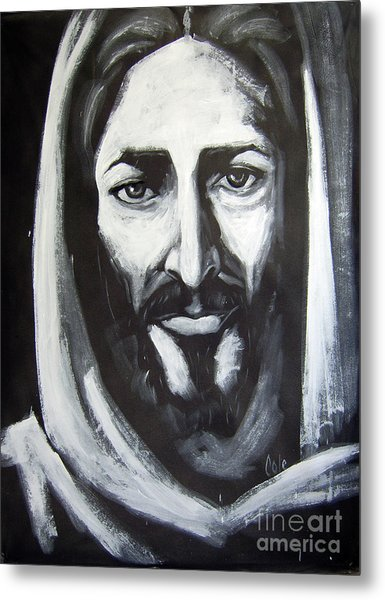 Face Of Christ Metal Print