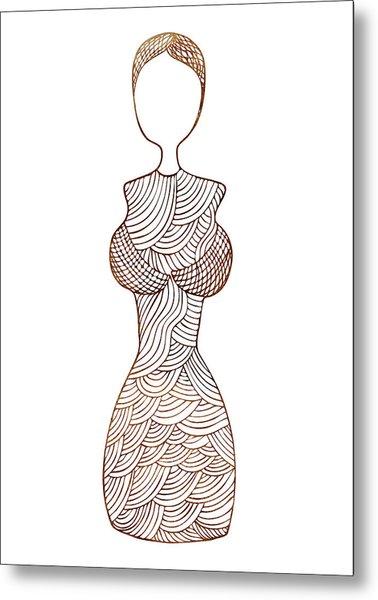 Fashion Sketch Metal Print by Frank Tschakert