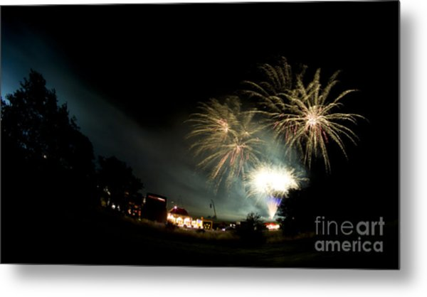 Fireworks Metal Print by Angel Ciesniarska
