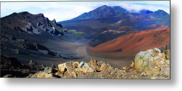 Haleakala Crater In Maui Hawaii Metal Print