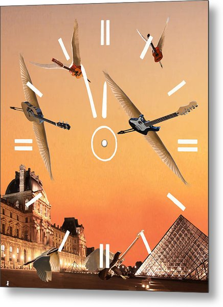Metal Print featuring the digital art 4 Minutes To Rock by Eric Kempson