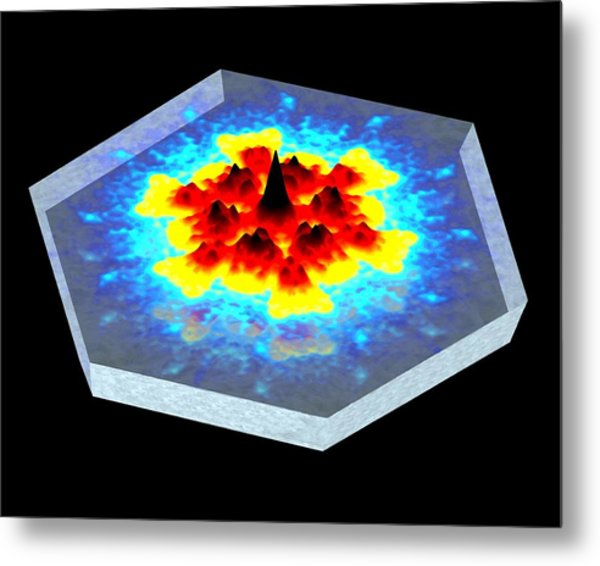 Quantum Waves In Topological Insulators Metal Print by Dr A. Yazdani