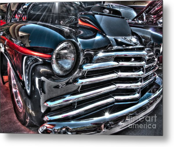 48 Chevy Convertible 2 Metal Print