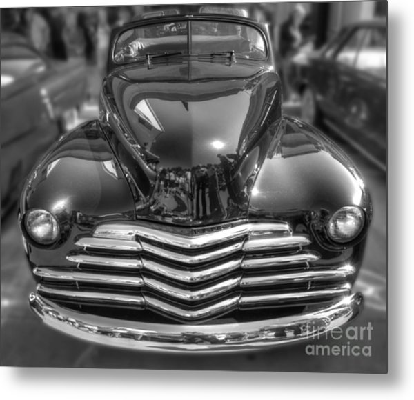 48 Chevy Convertible Metal Print