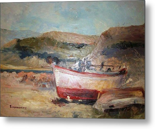 Boats Metal Print by George Siaba