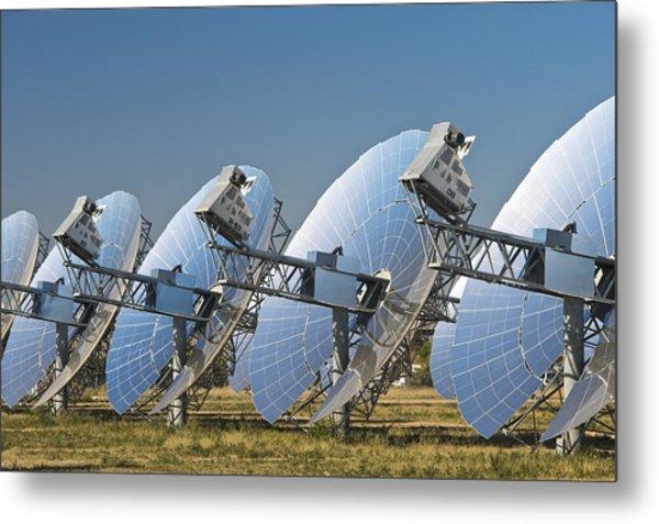 Concentrating Solar Power Plant Metal Print by David Nunuk