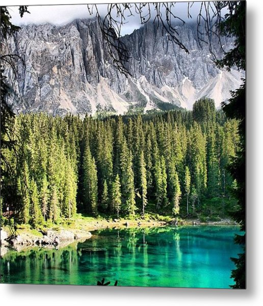 Lake Of Carezza Metal Print