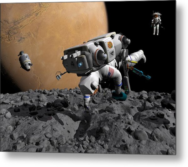 Mission To Mars, Artwork Metal Print by Walter Myers