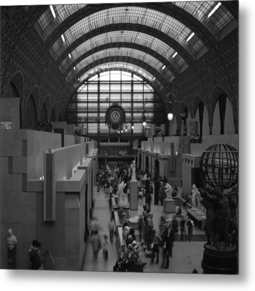 5 Seconds In The Musee D'orsay Metal Print by Loud Waterfall Photography Chelsea Sullens