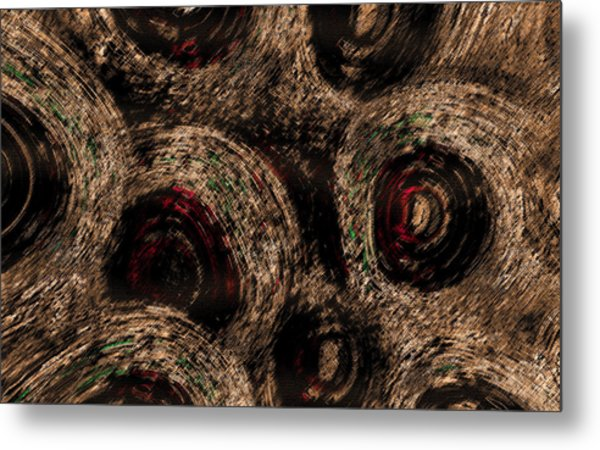Metal Print featuring the digital art The Spirals by Mihaela Stancu