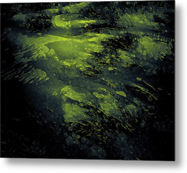 Metal Print featuring the digital art The Splash by Mihaela Stancu