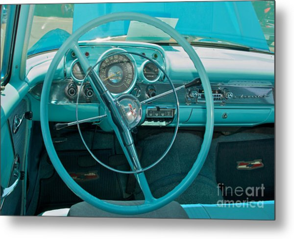 57 Chevy Bel Air Interior 2 Metal Print