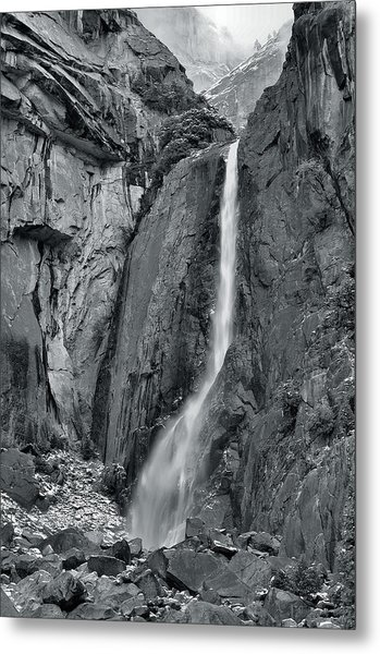 Lower Yosemite Falls Metal Print by Stephen  Vecchiotti