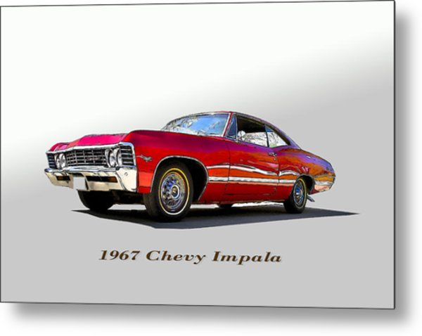 67 Chevy Metal Print by John Hix
