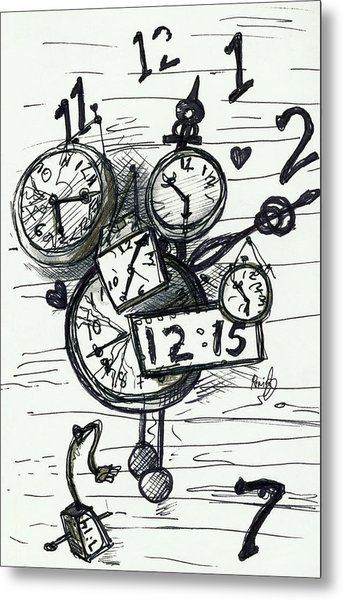 Broken Clocks Metal Print