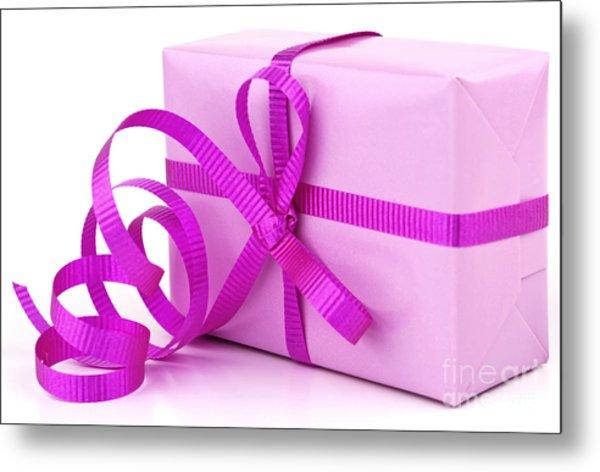 Pink Gift Metal Print