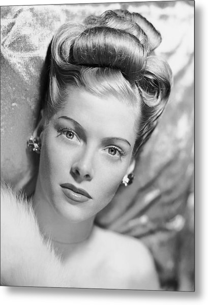 Portrait Of Woman Metal Print by George Marks