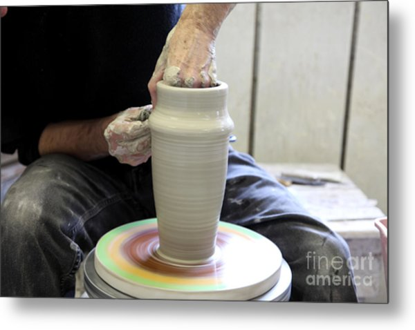 Pottery Wheel, Sequence Metal Print